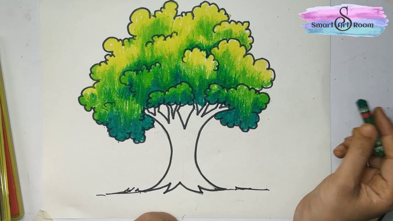 How To Draw And Color Tree Realistic Tree Drawing Very Easy Method To Draw And Color A Tree Youtube The kiddos will have a blast drawing it but even more fun adding colors and personalization to it. how to draw and color tree realistic tree drawing very easy method to draw and color a tree