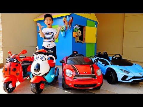 예준이와 아빠의 전동 자동차 가게놀이 Car Toy for Kids Power Wheels