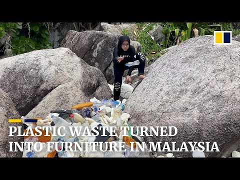 In Malaysia, ocean-bound plastic waste is transformed into furniture