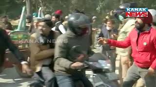 Uttarakhand: Scuffle Breaks Out Between Farmers And Police For Stop Them From Marching To Raj Bhavan