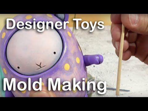 Designer Toys: Mold making for resin - how to include staffs in your mold