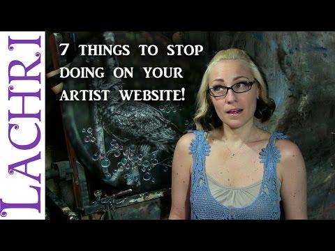 7 mistakes to avoid on your art website - art tips w/ Lachri