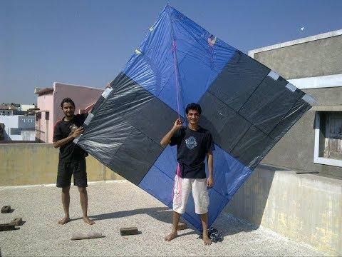 10 feet biggest kite|Flying a big 10 feet kite by 3 Spools (Firkin) of Manja|makar sankranti Part 1