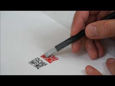 How I made an Artist Name Chop for a Sumi-e Artist Peter Clarke(HD)