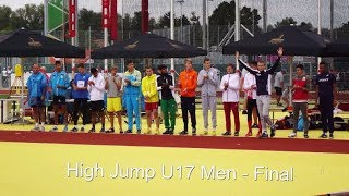 EYOF 2017 | U17 men | high jump final | 1. Arttu Mattila, FIN
