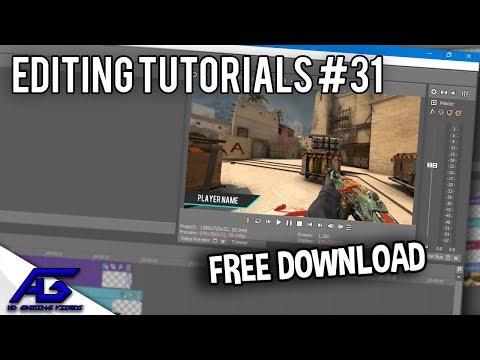 CS:GO Editing Tutorials #31 - Free Player Name Tag Template (Sony Vegas)