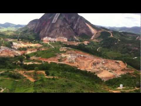 Helicopter visit to Ornamental quarry, Brazil