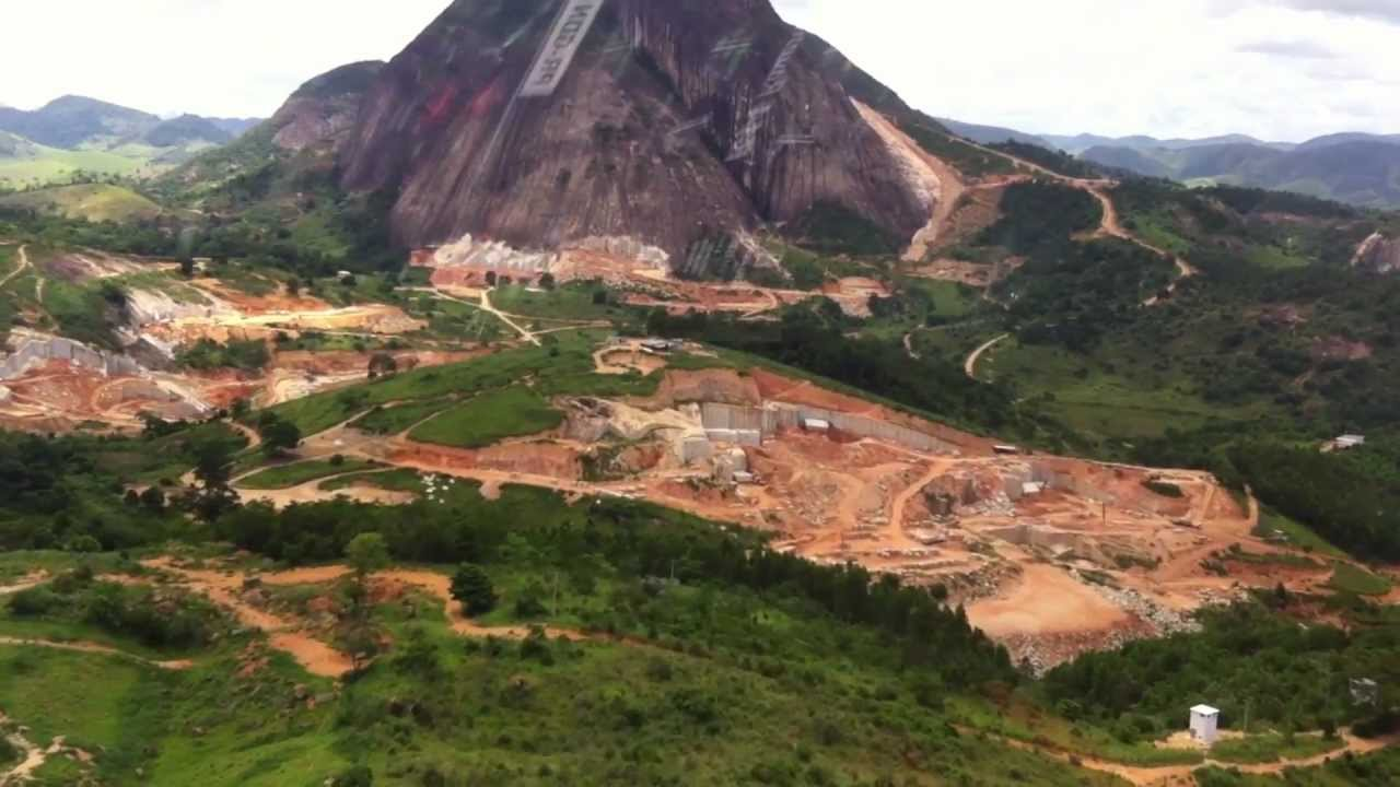 Helicopter Visit To Ornamental Quarry Brazil Youtube