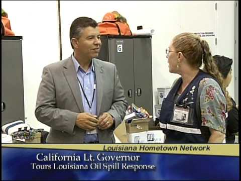 California Lt. Governor Abel Maldonado Tours Deepwater Horizon Incident Command Post