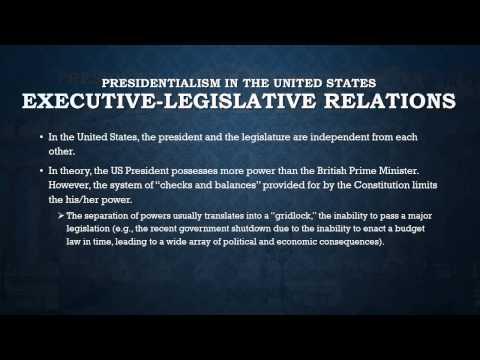 US Presidentialism vs UK Parliamentarism