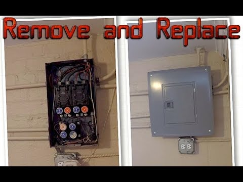 remove and replace an old fuse box do it yourself how to ... house electric fuse box holder #2