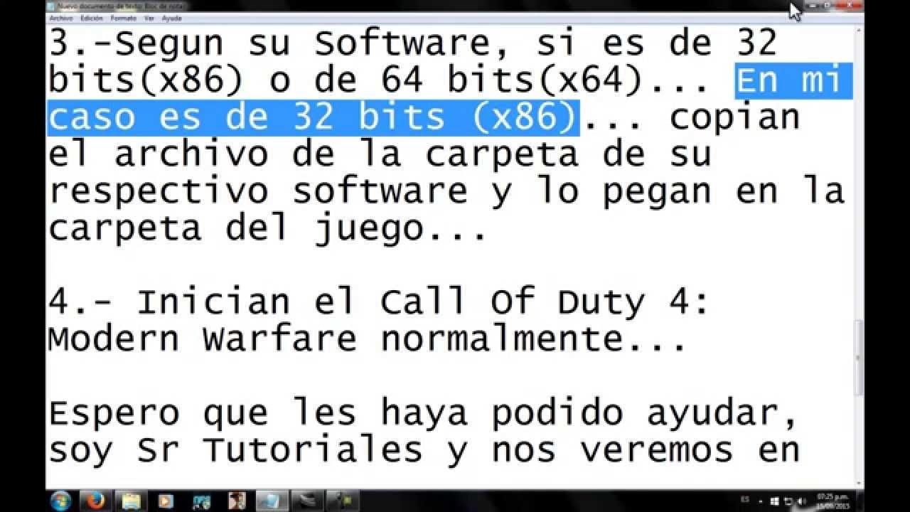 Call of duty 4 modern warfare 'ubyte4n' vertex data error fix.