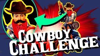 Shotgun en Magnum ONLY (Cowboy) Challenge // Fortnite Challenges #2