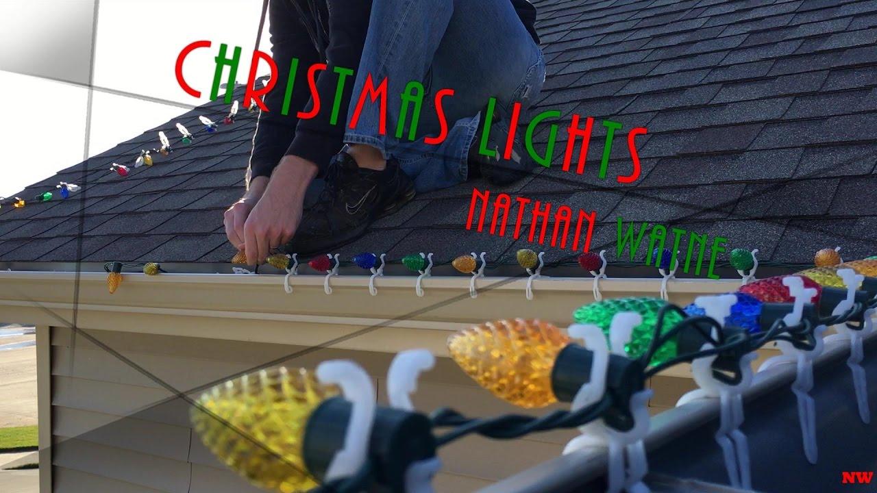 Hanging Christmas Lights Outside - YouTube