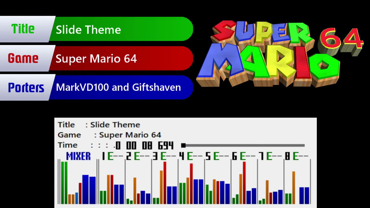 Super Mario World Custom Music - Super Mario 64 - Slide Theme