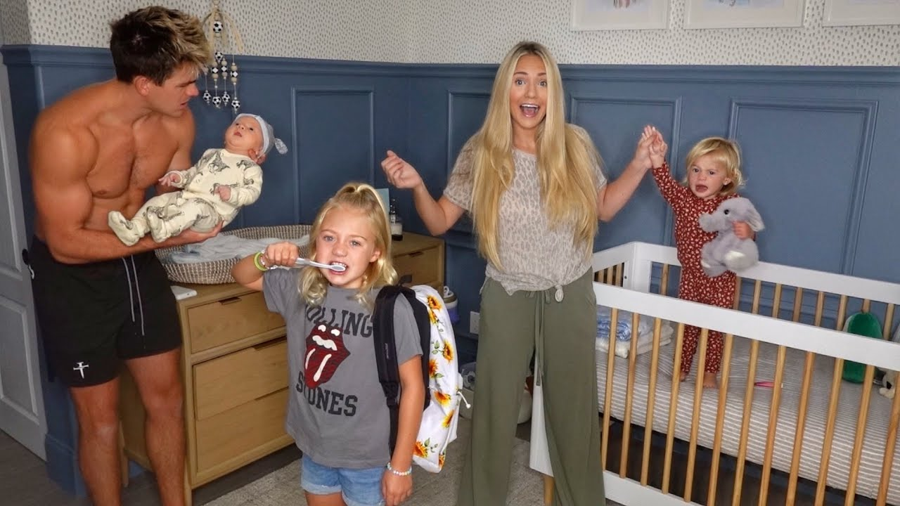 OUR NEW FAMILY MORNING ROUTINE WITH 3 KIDS!!!