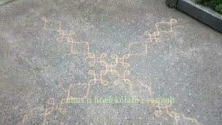 big rangoli designs with dots for competition