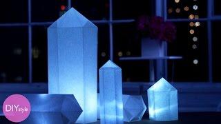How to Make Geometric Shaped White Paper Lanterns - Martha Stewart