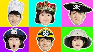 Wrong Kids Profession Mask Puzzle Game 어린이 직업체험 직업 가면 맞추기 놀이 게임 - 마슈토이 Mashu ToysReview