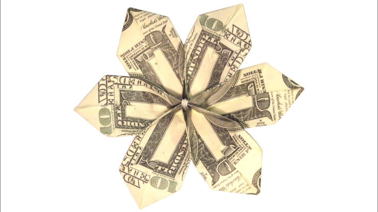 Amazing money flower youtube amazing money flower origami paper craft mightylinksfo