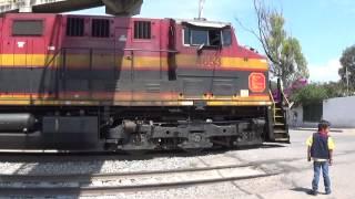 Trenes KCSM en Empalme Escobedo Gto!!