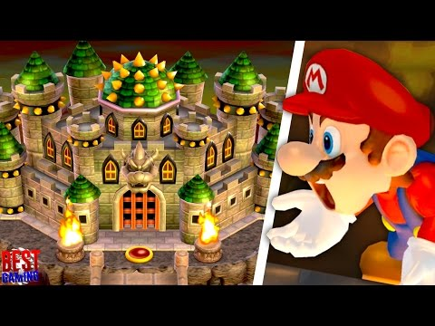 New Super BOWSER Wii Walkthrough - All Castle Levels (Koopalings, Bowser vs. Evil Mario)