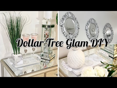 3 DIY DOLLAR TREE GLAM COFFEE TABLE DECOR IDEAS