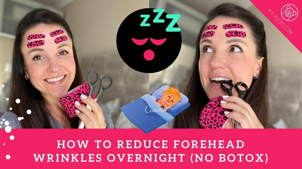 How To Reduce Forehead Wrinkles Overnight Using Kinesio Tapes No Botox Needed Youtube