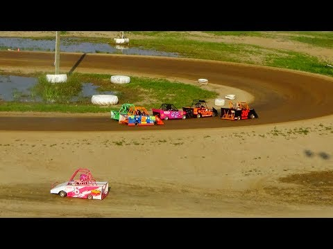 Mini Wedge B-Feature #1, 10-14 year old, at I-96 Speedway, Michigan, on 08-19-2018!