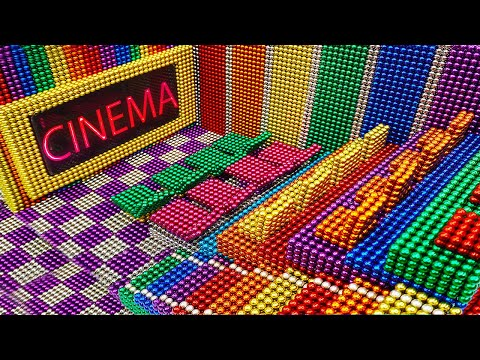 DIY - How To Build Mini Movie Theater From Magnetic Balls ( Satisfying ) | Magnet World Series