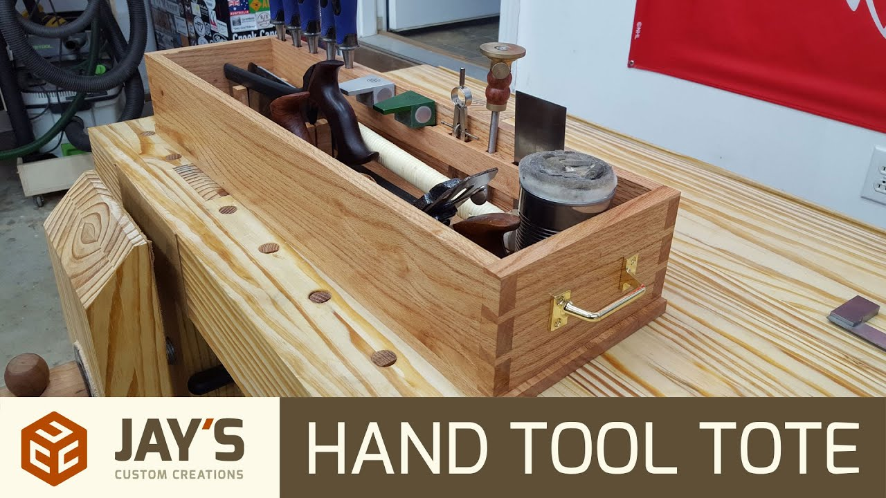 Hand Cut Dovetail Hand Tool Tote - 236 - YouTube