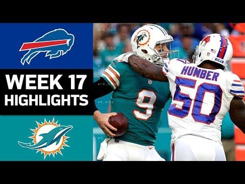 Bills vs. Dolphins | NFL Week 17 Game Highlights