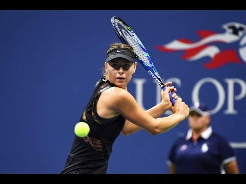 2017 US Open: Sharapova's match point against No.2 seed Halep
