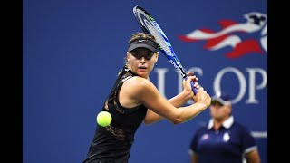 2017 us open sharapovas match point against no2 seed halep