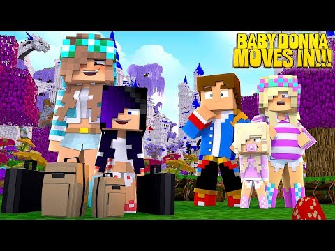 Minecraft BABY DONNA MOVES INTO THE PALACE!!! w/ LITTLE LEAH & LITTLE DONNY