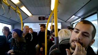 Angry lady on the Arriva Bus number 13 Malta