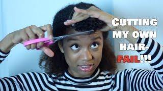 Cutting My Own Hair- FAIL!