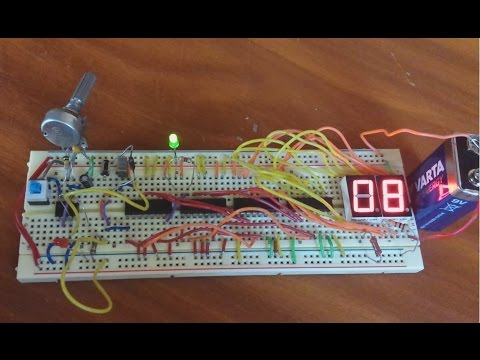 Led Circuit Diagram Wiring A Switch To An Outlet 2 Digit 7 Segment Counter From 0 99 (4029, 4543) - Youtube