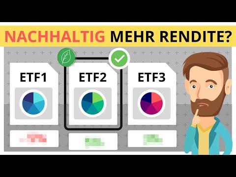 Mehr Rendite mit nachhaltigen ETFs? Ist nachhaltiges Investieren wirklich besser ????