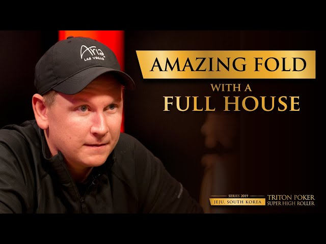 Amazing Fold with a Full House | Triton Poker 2019