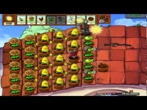 Plants vs zombies (Trồng cây bắn zombie) - Cấp độ 5-4 (Game Việt Hóa)