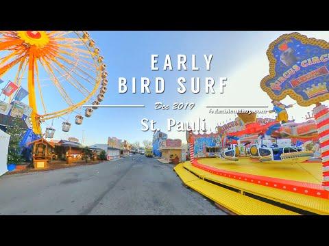Early Bird Surf - Electric Unicycle Ride on Tivoli Hamburg (Hamburger Dom) - Insta 360 One X