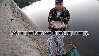 Рыбалка на реке Клязьма Ловля леща на фидер в жару