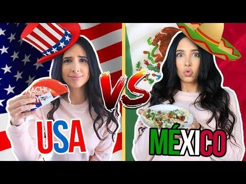 COMIDA MEXICANA EN USA vs COMIDA MEXICANA REAL 🌮🌯 NO ME GUSTÓ!! | Mariale