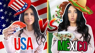 USA 🇺🇸 vs MEXICO 🇲🇽- COMIDA MEXICANA EN USA vs COMIDA MEXICANA REAL 🌮🌯 NO ME GUSTÓ!! | Mariale