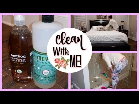CLEAN WITH ME! MASTER BEDROOM/BATH