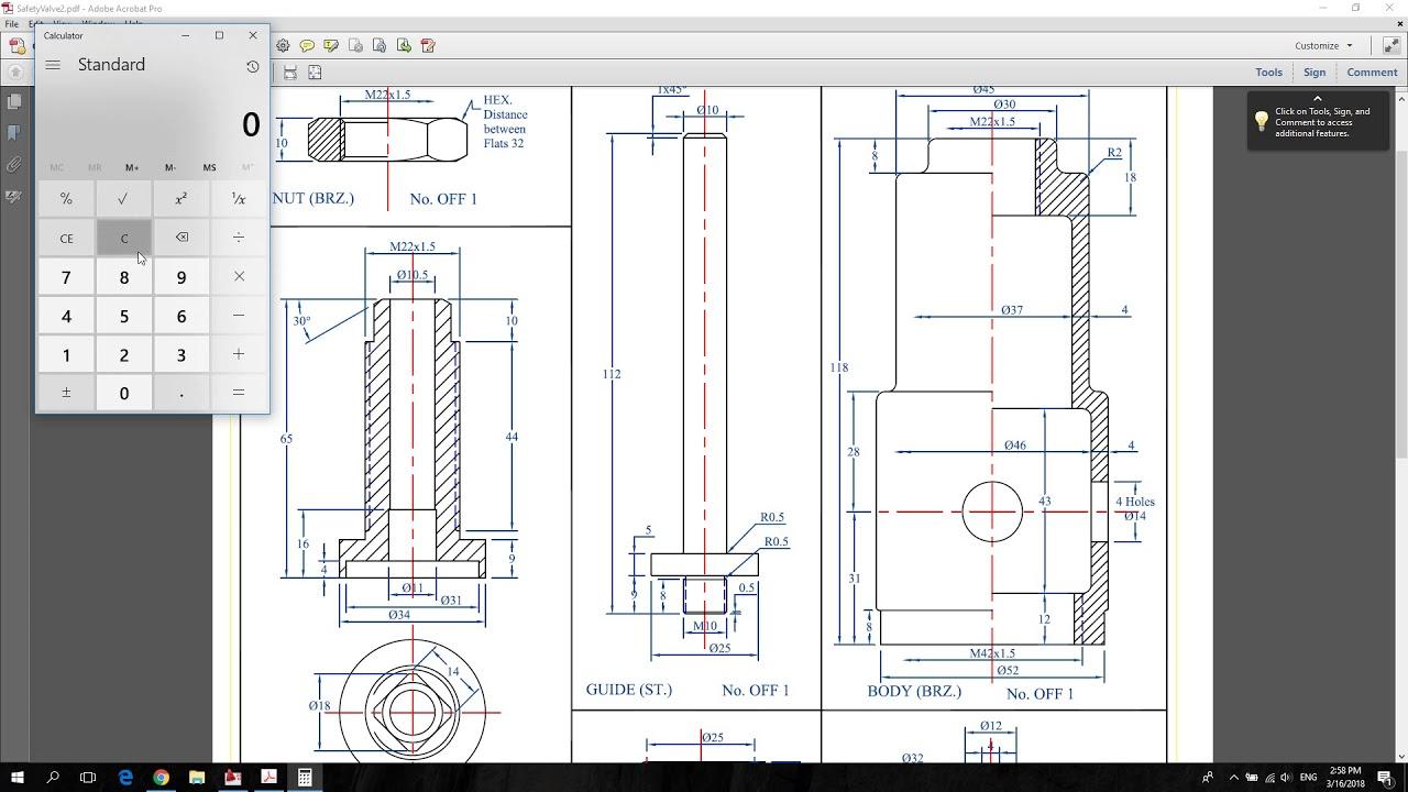 Drawing & Assembly Sheet ( Safety Valve ) AutoCAD