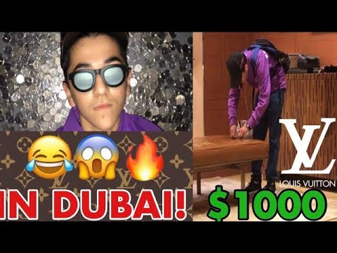 BUYING LOUIS VUITTON WITH 1,000 COINS! (DUBAI!) (KICKED OUT!)