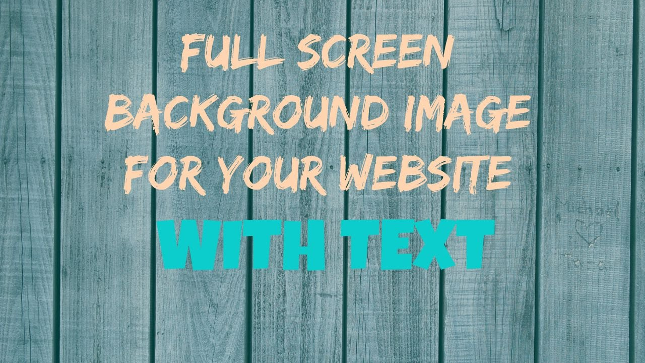 Full Screen Landing Page Image with HTML & CSS [How-To ...