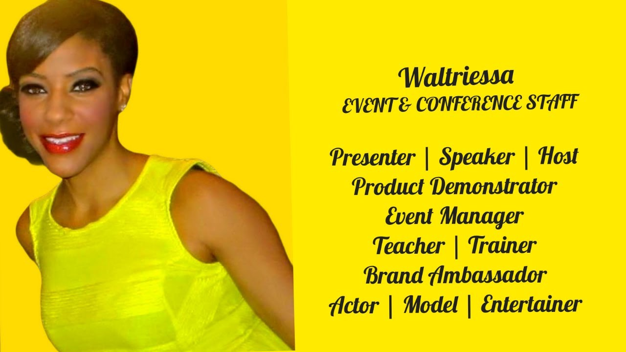 Virtual Event Staff | Model | Presenter | Actor | Waltriessa